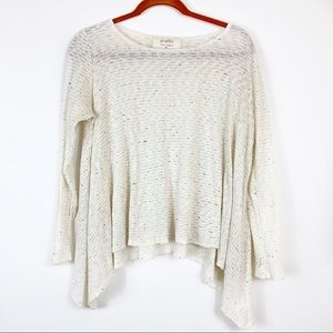 Anthropologie Puella Knit Speckled Oversized Top